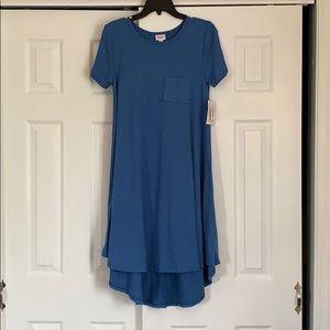 LulaRoe xxs Carly Dress in Heathered Blue